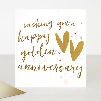 luxury-embellished-golden-anniversary-card-ptr029-Single Cards-1