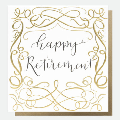 gold-calligraphy-large-retirement-card-reb007-Single Cards-1