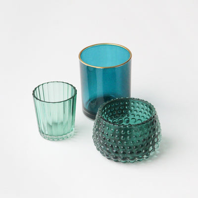 green-glass-tealight-holder-set-gts100-Home Accessories-1