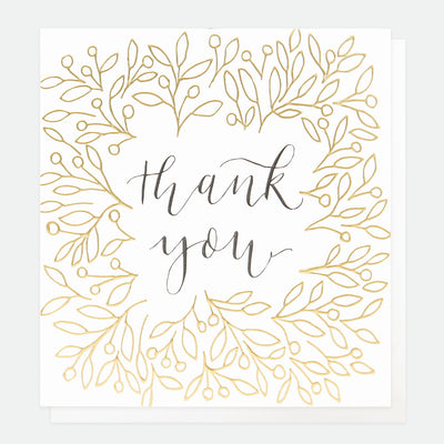 gold-leaves-calligraphy-thank-you-card-ref007-Single Cards-1