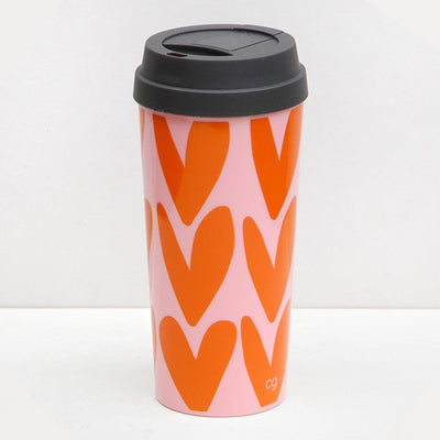 orange-hearts-thermal-travel-mug-thm005-Cups and Mugs-1