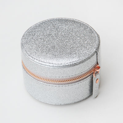 silver-glitter-round-travel-jewellery-box-roj100-Jewellery Storage-1