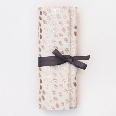 rose-gold-dotty-travel-jewellery-roll-jwr102-Jewellery Storage-1