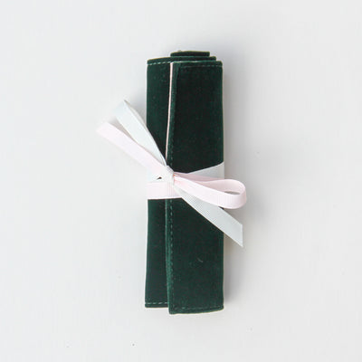dark-green-velvet-mini-travel-jewellery-roll-mjr103-Jewellery Storage-1
