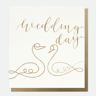 eco-glitter-swans-wedding-card-dtl011-Single Cards-1