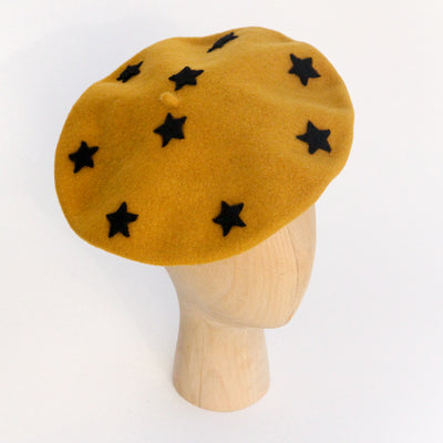 mustard-black-wool-star-beret-da6033-Hats-1