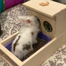 Load image into Gallery viewer, Rabbit Hay Feeder With Litter Box