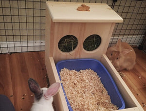 XL Rabbit Hay Feeder With Litter Box