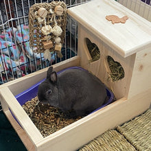 Load image into Gallery viewer, Rabbit Hay Feeder With Litter Box, Heart Shaped Hay Holes