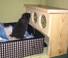 Load image into Gallery viewer, Elevated Rabbit Hay Feeder