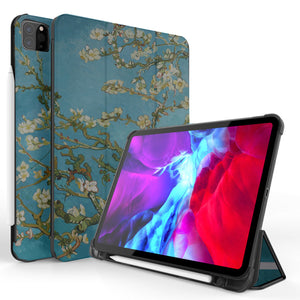 "CoverON Smart Cover For Apple iPad Pro 10.5"" Case, Slim Flip Pen Holder Tablet Auto Wake / Sleep - Almond Blossom"