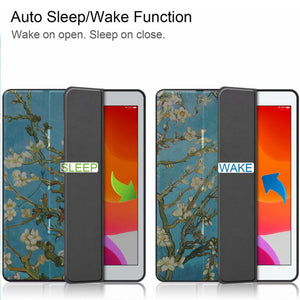 "CoverON Smart Cover For Apple iPad Air 3 10.5"" Case, Slim Flip Pen Holder Tablet Auto Wake / Sleep - Almond Blossom"