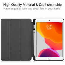 "Load image into Gallery viewer, CoverON Smart Cover For Apple iPad Air 3 10.5"" Case, Slim Flip Pen Holder Tablet Auto Wake / Sleep - Black"