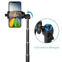 "Load image into Gallery viewer, Selfie Stick Tripod for Phones - Universal Extra Long 40"" Extendable & 360° Rotation Tripod Selfie Stick with Wireless Bluetooth Remote Control"