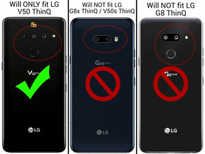 LG V50 ThinQ Case - Heavy Duty Shockproof Clear Phone Cover - EOS Series