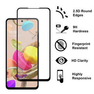 LG K42 Tempered Glass Screen Protector - InvisiGuard Series (1-3 Pack)