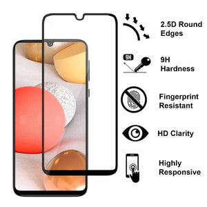 Samsung Galaxy A42 5G Tempered Glass Screen Protector - InvisiGuard Series (1-3 Pack)