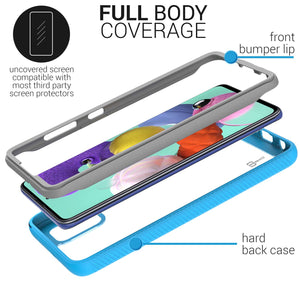 Samsung Galaxy A51 Case - Heavy Duty Shockproof Clear Phone Cover - EOS Series