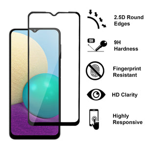 Samsung Galaxy A02 / Galaxy M02 Case - Clear Tinted Metal Ring Phone Cover - Dynamic Series