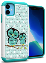 Load image into Gallery viewer, iPhone 11 Case - Rhinestone Bling Hybrid Phone Cover - Aurora Series