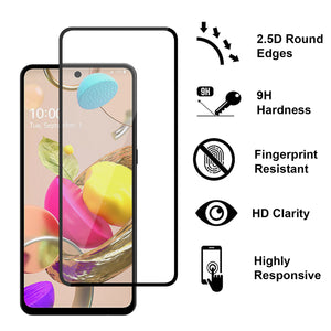 LG Aristo 6 / K33 Tempered Glass Screen Protector - InvisiGuard Series (1-3 Pack)