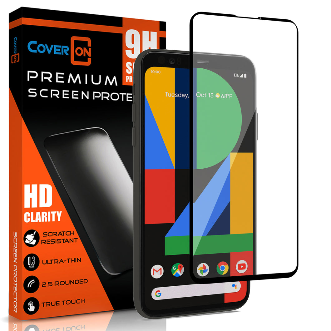 Google Pixel 4a Tempered Glass Screen Protector - InvisiGuard Series (1-3 Pack)