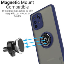 Load image into Gallery viewer, Samsung Galaxy A91 Case - Clear Tinted Metal Ring Phone Cover - Dynamic Series