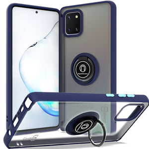 Samsung Galaxy Note 10 Lite / Galaxy A81 Case - Clear Tinted Metal Ring Phone Cover - Dynamic Series