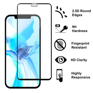 Apple iPhone 12 Pro Max Clear Liquid Glitter Case -  Full Body Tough Military Grade Shockproof Phone Cover