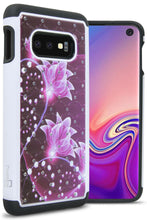 Load image into Gallery viewer, Samsung Galaxy S10e Case - Rhinestone Bling Hybrid Phone Cover - Aurora Series