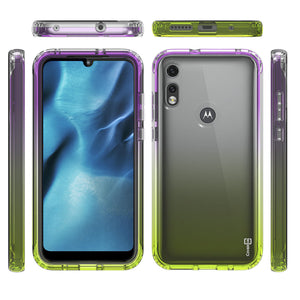 Motorola Moto E (2020) Clear Case Full Body Colorful Phone Cover - Gradient Series