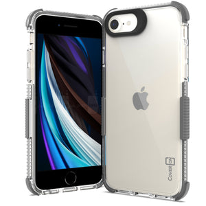 Apple iPhone SE 2020 / iPhone 8 / iPhone 7 Clear Case - Protective TPU Rubber Phone Cover - Collider Series