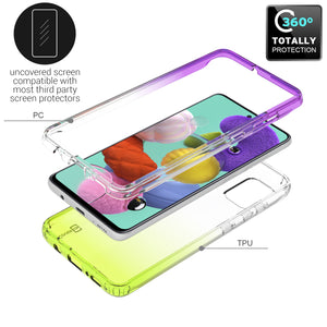 Samsung Galaxy A51 Clear Case Full Body Colorful Phone Cover - Gradient Series