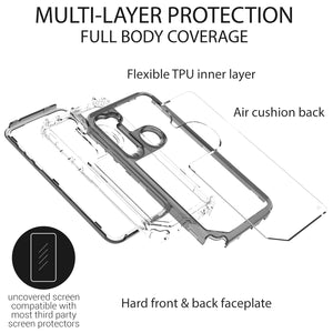 Motorola Moto G Stylus Clear Case - Full Body Tough Military Grade Shockproof Phone Cover