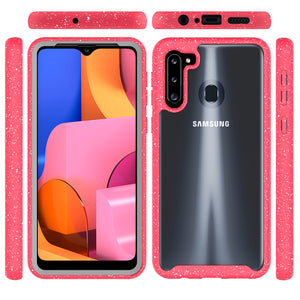 Samsung Galaxy A21 Case - Heavy Duty Shockproof Clear Phone Cover - EOS Series