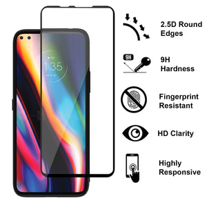 Motorola Moto G 5G Plus / Moto One 5G Clear Case Hard Slim Protective Phone Cover - Pure View Series