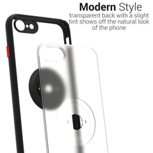 Load image into Gallery viewer, Apple iPhone SE 2020 / iPhone 8 / iPhone 7 Case - Clear Tinted Metal Ring Phone Cover - Dynamic Series