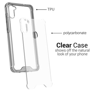 Samsung Galaxy A11 Clear Case Hard Slim Protective Phone Cover - Pure View Series