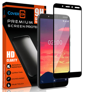 "Nokia C2 (5.7"") Tempered Glass Screen Protector - InvisiGuard Series (1-3 Pack)"