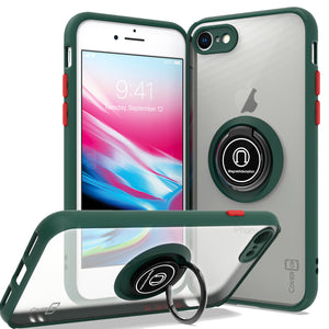 Apple iPhone SE 2020 / iPhone 8 / iPhone 7 Case - Clear Tinted Metal Ring Phone Cover - Dynamic Series