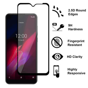 TCL T-Mobile Revvl 4 Plus Tempered Glass Screen Protector - InvisiGuard Series (1-3 Pack)