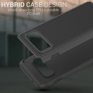 Samsung Galaxy S10 Case - Heavy Duty Protective Hybrid Phone Cover - HexaGuard Series