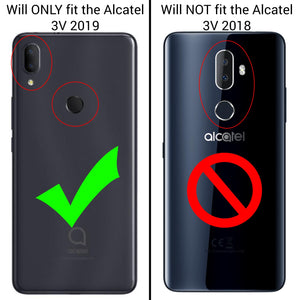 Alcatel 3V 2019 Case - Heavy Duty Protective Hybrid Phone Cover - HexaGuard Series