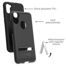 Load image into Gallery viewer, Samsung Galaxy A11 Case - Metal Kickstand Hybrid Phone Cover - SleekStand Series