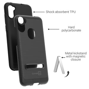 Samsung Galaxy A11 Case - Metal Kickstand Hybrid Phone Cover - SleekStand Series