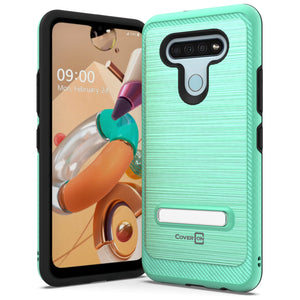 LG K51 / Reflect Case - Metal Kickstand Hybrid Phone Cover - SleekStand Series