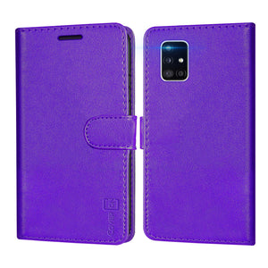Samsung Galaxy A51 5G Wallet Case - RFID Blocking Leather Folio Phone Pouch - CarryALL Series