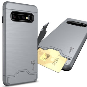 Samsung Galaxy S10 Case with Card Holder Kickstand - SecureCard Series