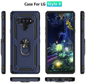 LG Stylo 6 Case with Metal Ring - Resistor Series