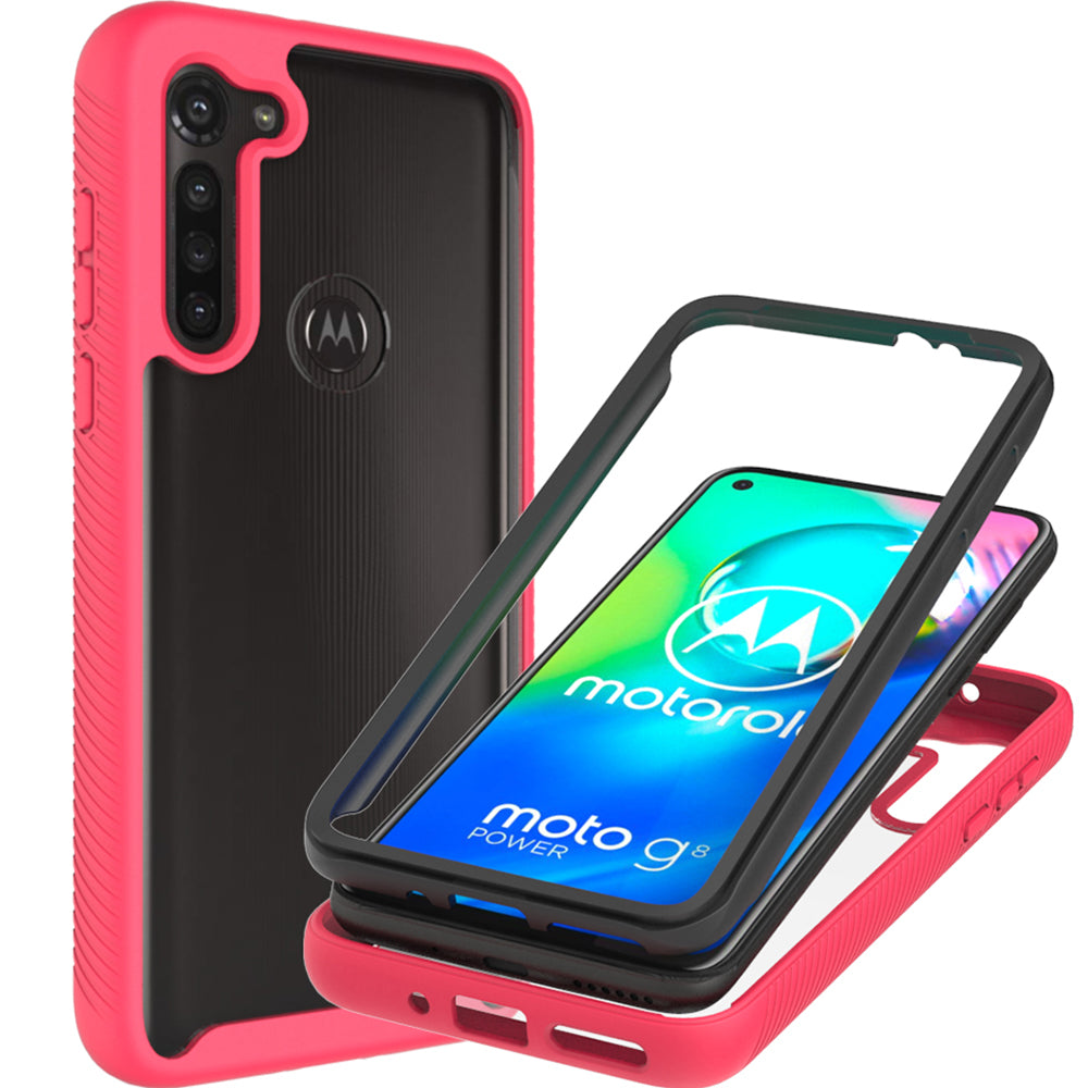 Motorola Moto G8 Power Case - Heavy Duty Shockproof Clear Phone Cover - EOS Series
